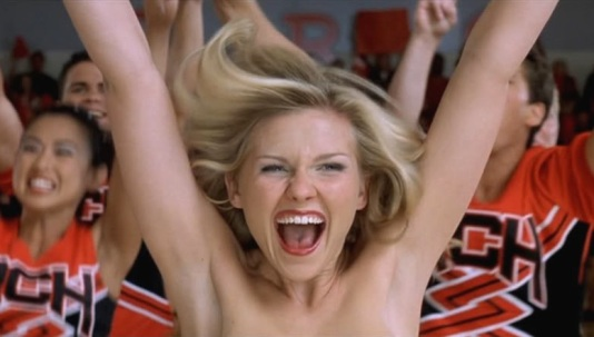 Kirsten Dunst bares all for 'Bring It On.'