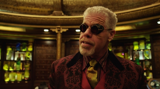 Ron Perlman, testing out the new IMAX 3D glasses.